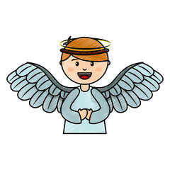 cute angel manger character vector illustration design