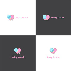 Vector logotype eps 10 about baby goods company