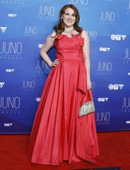 Singer Diana Panton arrives on the red carpet for the 2017 Juno Awards in Ottawa
