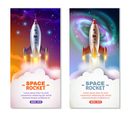 Space Rocket Vertical Banners