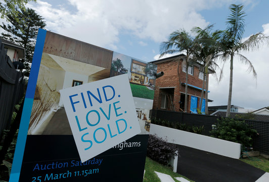 A for-sale sign indicates a residential property sold on the open market on the north shore suburbs of Sydney,