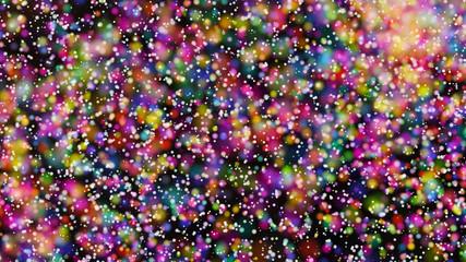Beautiful colorful bokeh blurred background defocused lights