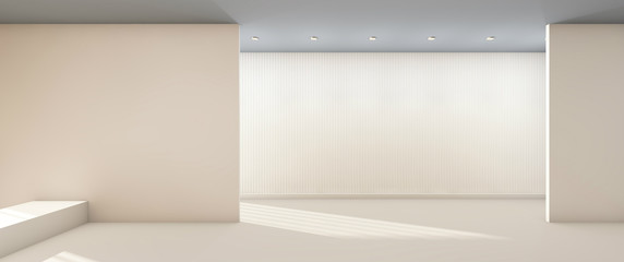 Works of Arts and Gallery Clean and minimal Exhibition Display / 3d rendering