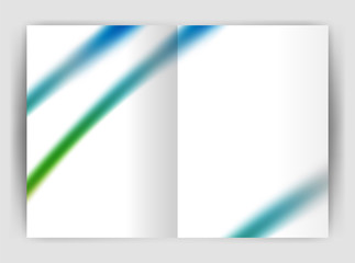 Blurred wave line. Business annual report abstract background