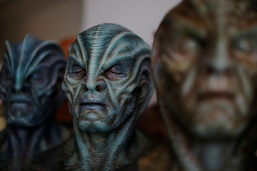 "Examples of makeup used in the film ""Star Trek Beyond"" is displayed at a reception for nominees for Academy Award for Makeup and Hairstyling before the 89th Academy Awards in Los Angeles"