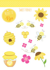 bee and honey elements