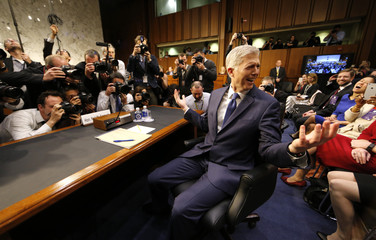 Supreme Court nominee judge Gorsuch arrives for his  Senate Judiciary Committee confirmation hearing in Washington