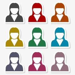 Avatar profile silhouette icon