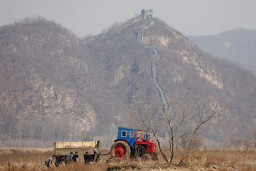 The Wider Image: Evidence of strained ties on China-North Korea border