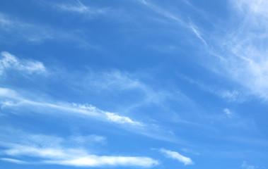 Blue sky white clouds fresh air