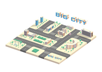 Isometric city map