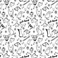 Pattern dog with black color