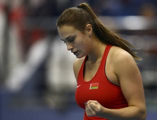 Tennis - Fed Cup Semifinal - Belarus v Switzerland