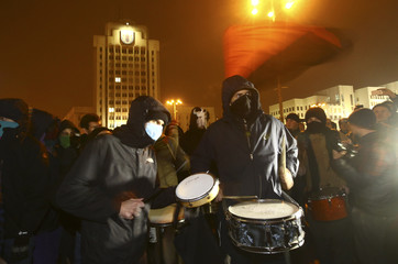 People protest against new taxes and increased tariffs for communal services in Minsk