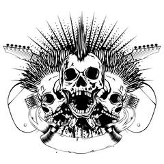 guitars skull_var 24