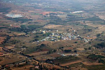 Aerial View of Land and Township