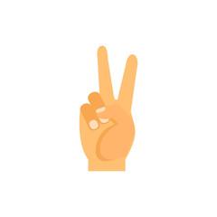 peace gesture vector