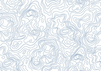 topographic map seamless pattern. Monochrome background with abstract shapes.