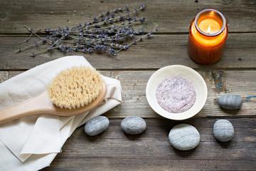 Body scrub and brush for body massage