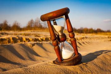 hourglass in sands