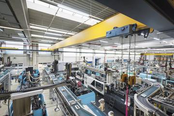 Factory shop floor, molding section