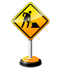 construction sign concept