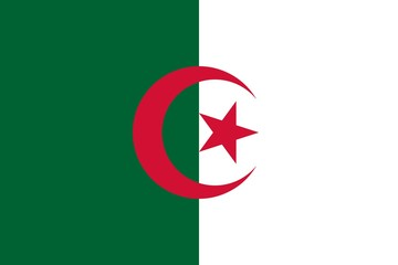 Flag of Algeria Horizontal