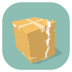 Vector Damaged Goods Icon.