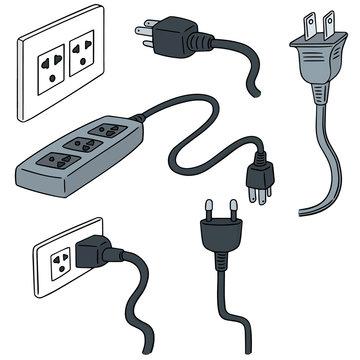 vector set of plugs