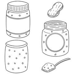 vector set of peanut butter
