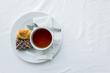 tea with bread for breakfast