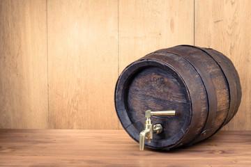 Old vintage wooden barrel