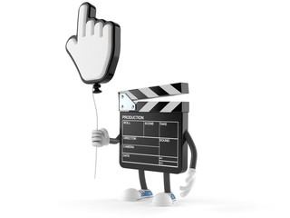 Film slate character with cursor