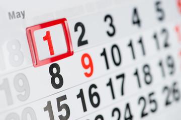 Calendar 1 May