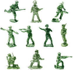 Toy Soldier Pop Art Vector Green