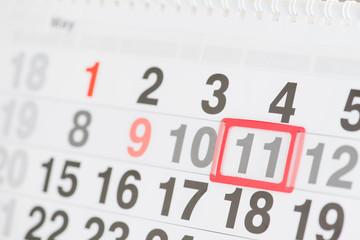 Calendar 11 May