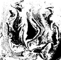 Black and white liquid texture, watercolor hand drawn marbling illustration, abstract vector background