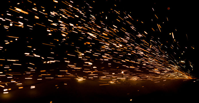 bright sparks of metal