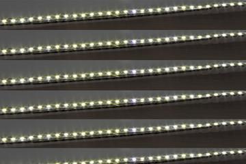 LED stripes on a dark background obliquely