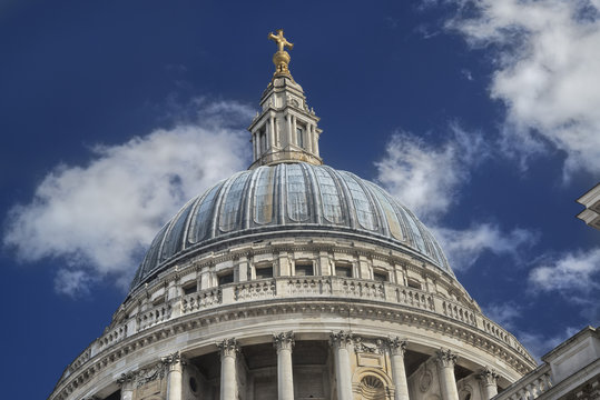 The dome of St. Paul's Cathedral in London