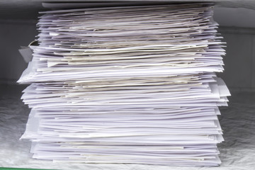 Pile of documents papers
