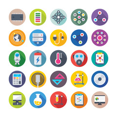 Science and Technology Colored Vector Icons 1