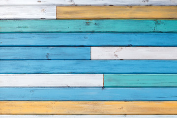 Abstract background of painted boards