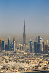 Dubai Burj Khalifa Textfreiraum Copyspace hochkant vertikal Luftaufnahme Luftbild
