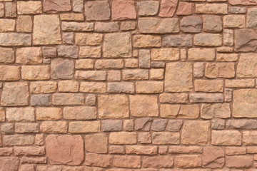 Navajo sandstone wall