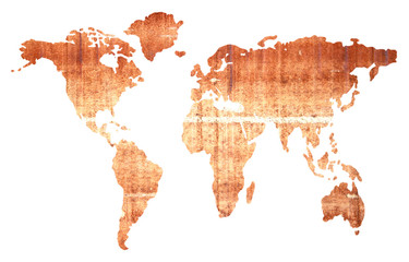 Global map isolated on white background