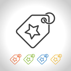 Price tag icon. Vector. For using on e-commerce