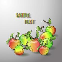 Vector apple banner.