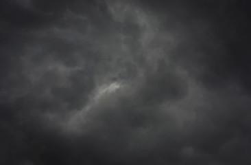Papier Peint - Dark storm clouds before the rain. Bad weather.