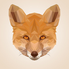Red Fox - Illustration - Low Poly Graphic